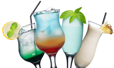 four cocktail drinks