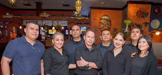 group photo of the restaurants staff
