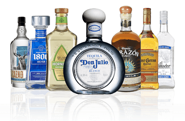 seven different types of tequila drinks