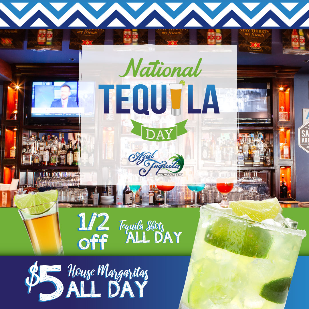 poster for national tequila day